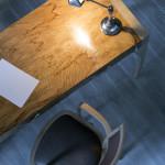 Bureau art déco moderne Ronce frêne olivier chêne 05_L