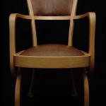 Chaise fauteuil Eléphant art nouveau moderne Hetre peau d'autruche 01_L