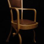 Chaise fauteuil Eléphant art nouveau moderne Hetre peau d'autruche 02_L