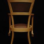 Chaise fauteuil Eléphant art nouveau moderne Hetre peau d'autruche 04_L