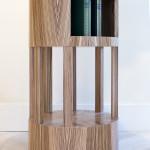 Table de chevet art déco moderne ronde soleil zebrano 01_L
