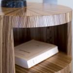 Table de chevet art déco moderne ronde soleil zebrano 03_L