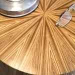 Table de chevet art déco moderne ronde soleil zebrano 04_L