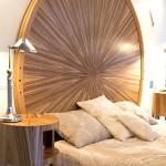 Tête de lit art déco moderne ronde soleil zebrano ebène chêne 01_L