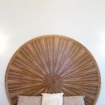 Tête de lit art déco moderne ronde soleil zebrano ebène chêne 02_L