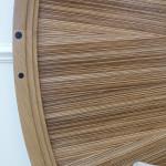 Tête de lit art déco moderne ronde soleil zebrano ebène chêne 04_L