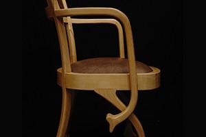 Chaise fauteuil Eléphant art nouveau moderne Hetre peau d'autruche 03_M_V2