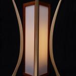 Lampe luminaire Elephant os noyer hêtre 01