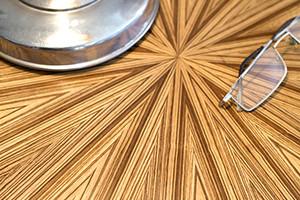 Table de chevet art déco moderne ronde soleil zebrano 04_M